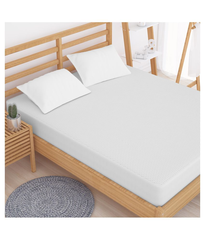 Story@Home DMP1403 White Cotton Mattress Protector