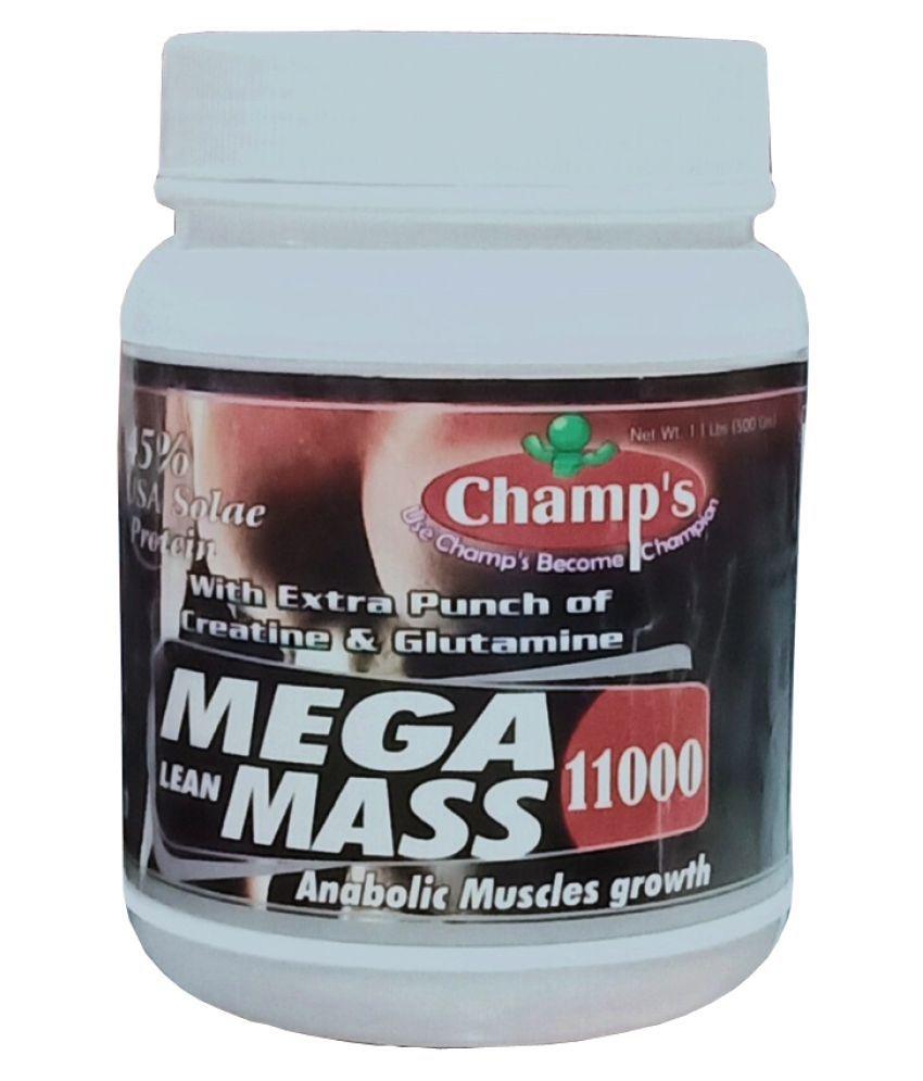 Champs Mega Lean Mass 11000 (Vanilla) 500 gm Powder