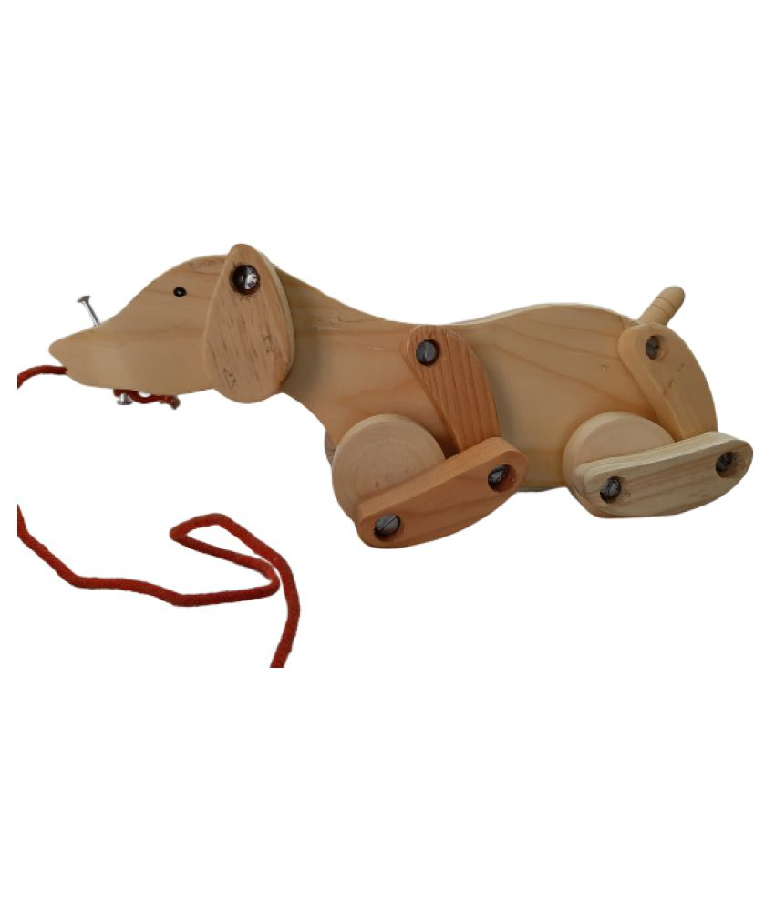 Handcrafted Wooden Dog - Pull Along toy for kids