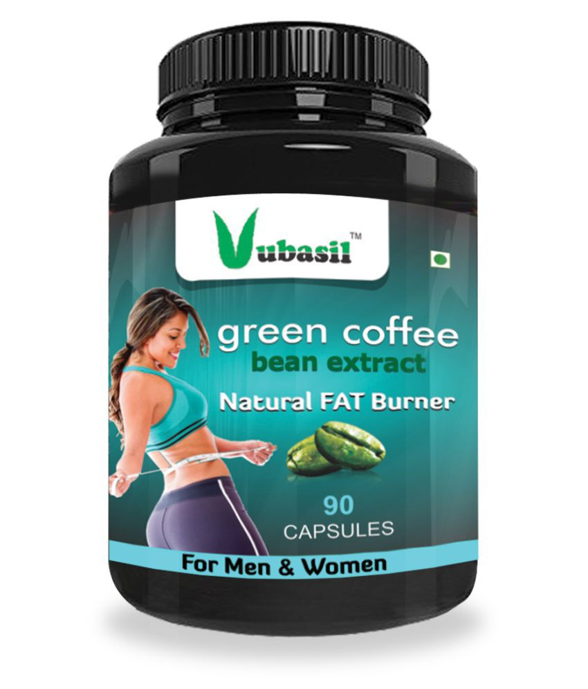 VUBASIL Best Green Coffee  90 Capsules  Weight Loss Fat Burner Lowers Sugar 800 mg Minerals Capsule