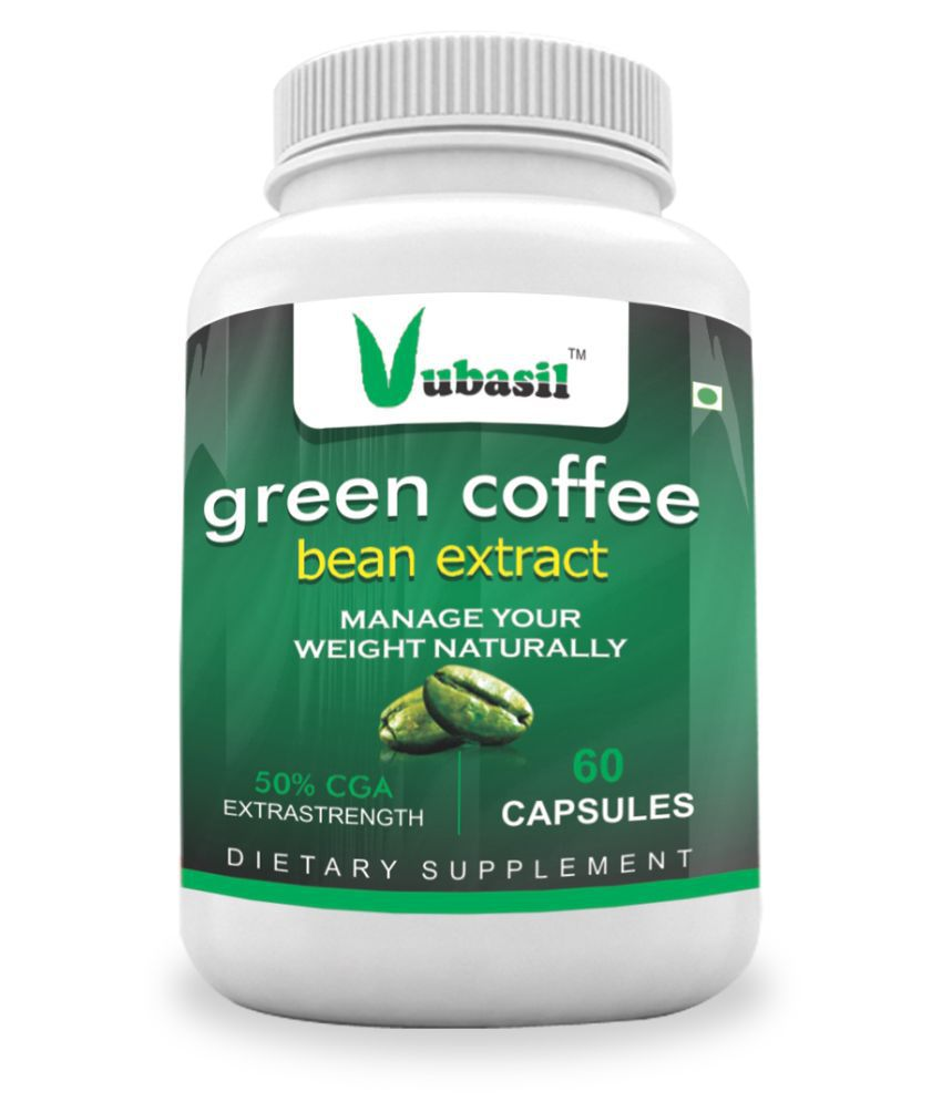 VUBASIL Best Green Coffee Weight Loss Immunity Booster 60 800 mg Fat Burner Capsule