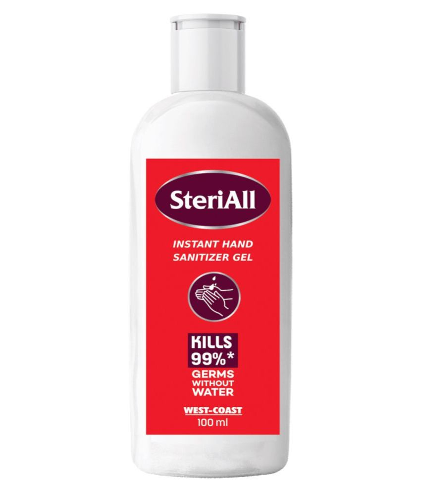 West-Coast SteriAll Instant Gel Hand Sanitizer 100 mL Pack of 5