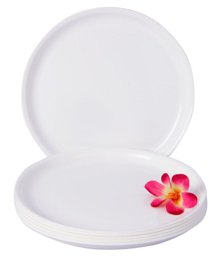 Everbuy 6 Pcs Plastic Full Plate