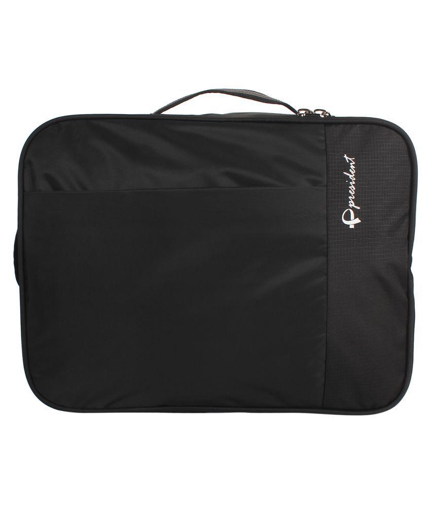President Black Polyester Office Bag