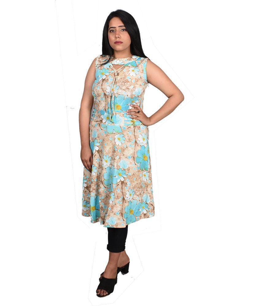 Blanche Jewellery Poly Chiffon Multi Color Regular Dress