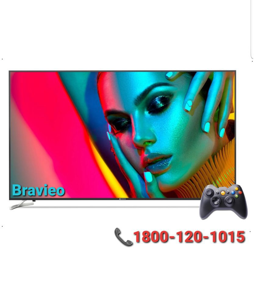 Bravieo KLV-43J6500B 108 cm ( 43 ) Smart Ultra HD (4K) LED Television With 1+2 Year Extended Warranty