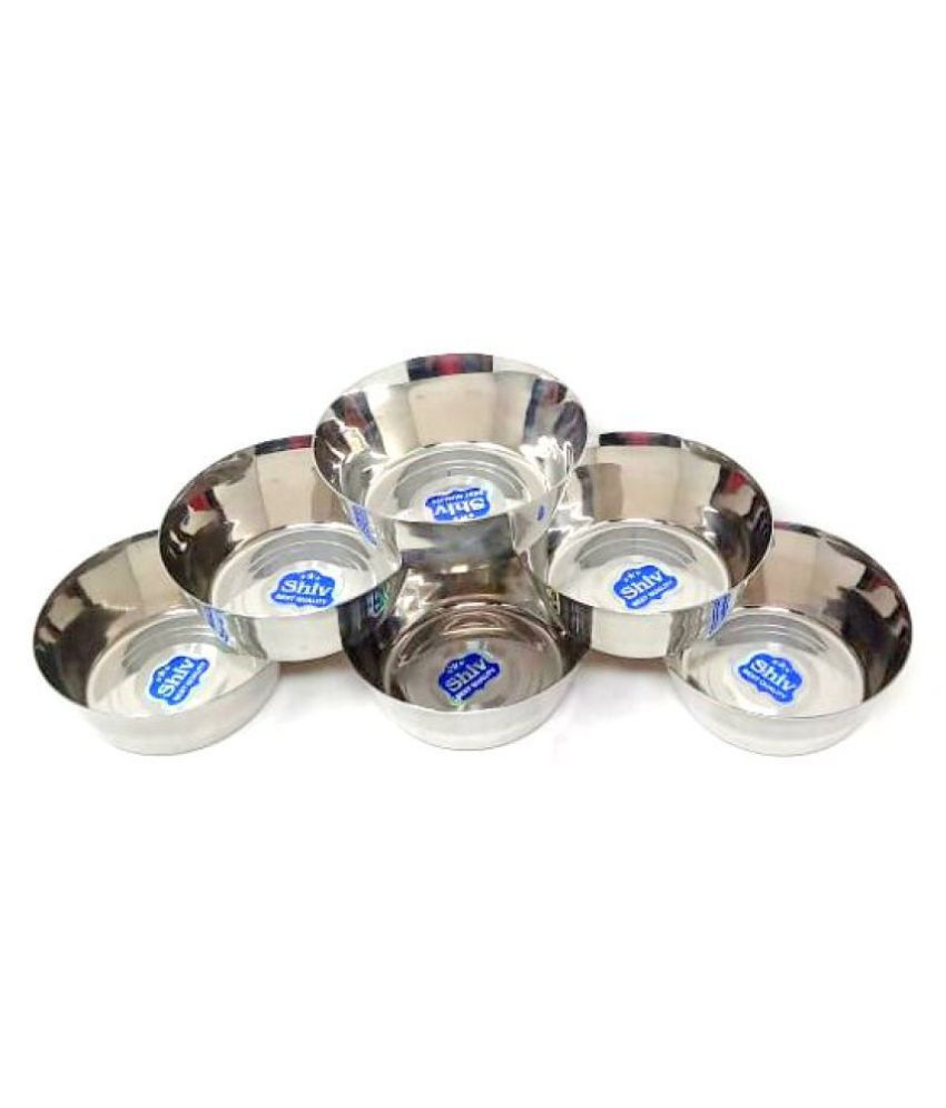 Shiv 6 Pcs Stainless Steel Pudding Bowl 250 mL