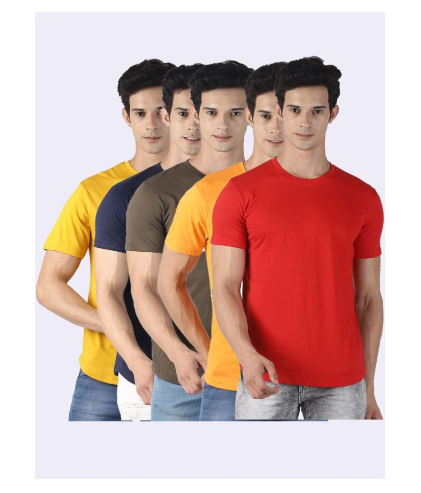 CF Comic Factory 100 Percent Cotton Multi Solids T-Shirt