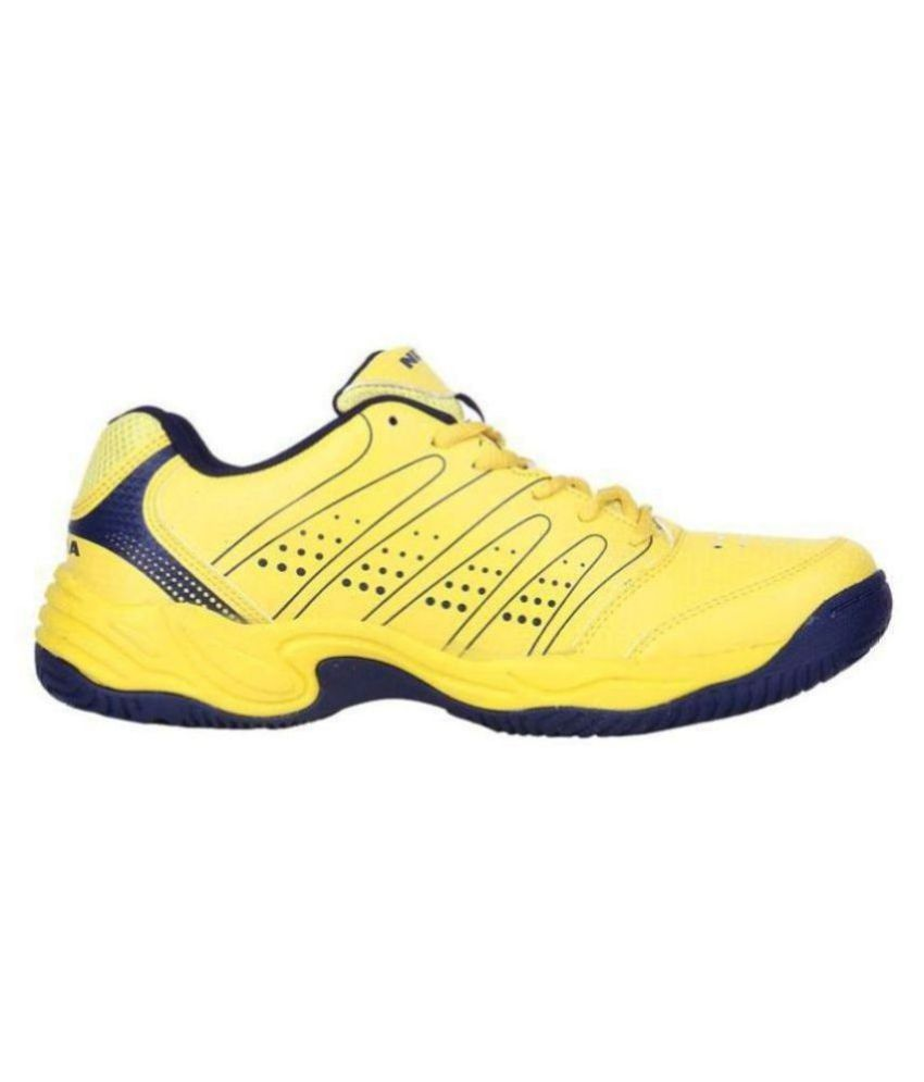 Nivia zeal Yellow Unisex Non-Marking Shoes