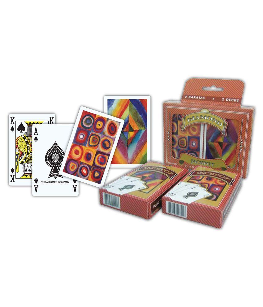 The Ace Card Company Diamond Bridge Plastic Playing Cards, Washable - Set of 2
