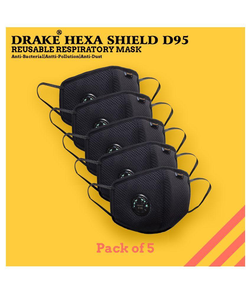 Drake D95 Reusable Respiratory Face Mask (pack of 5 pieces)