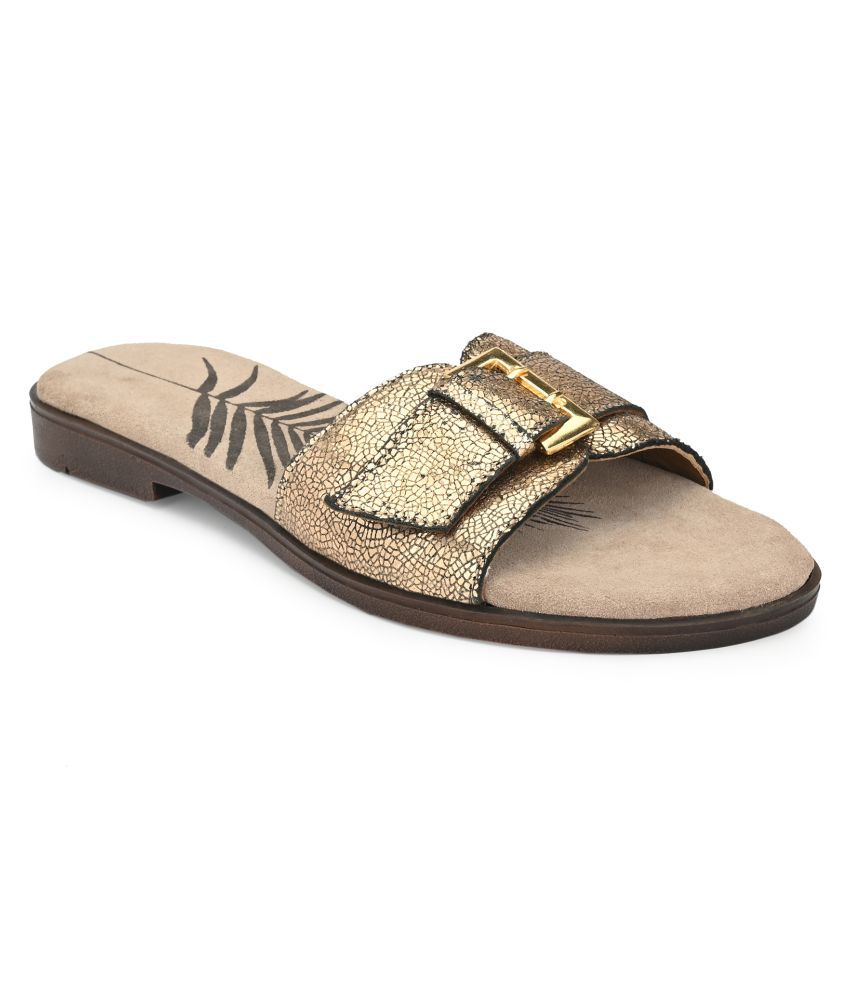 Delize Gold Slippers