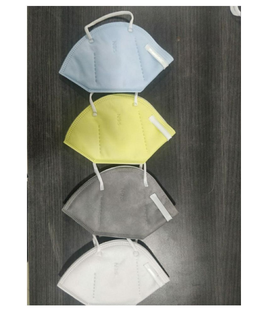 Kirshna Infotech multicolor N95 Mask (Pack Of 4)