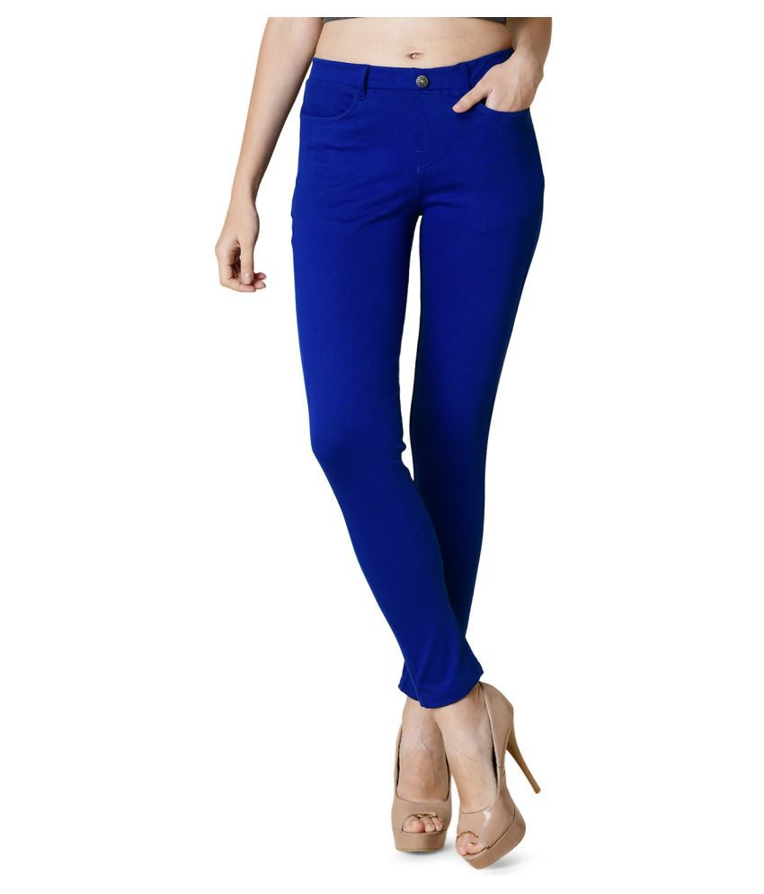 Newrie Cotton Jeggings - Blue