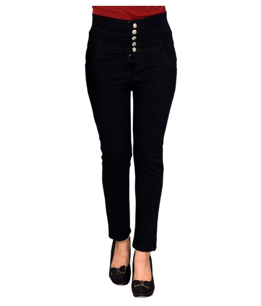 Rj Fashion Denim Jeans - Black