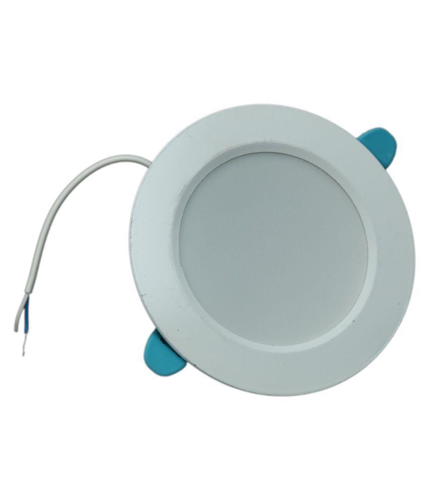 SaviLite 7W Round Ceiling Light 7.2 cms. - Pack of 5