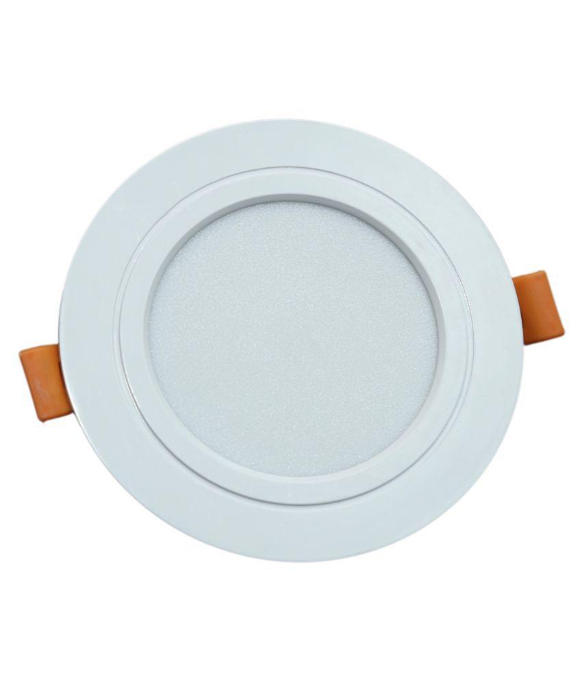 SaviLite 7W Round Ceiling Light 7.5 cms. - Pack of 5