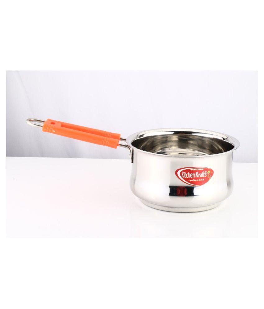 Kitchen Krafts No Coating Stainless Steel Sauce Pan 18 cm mL