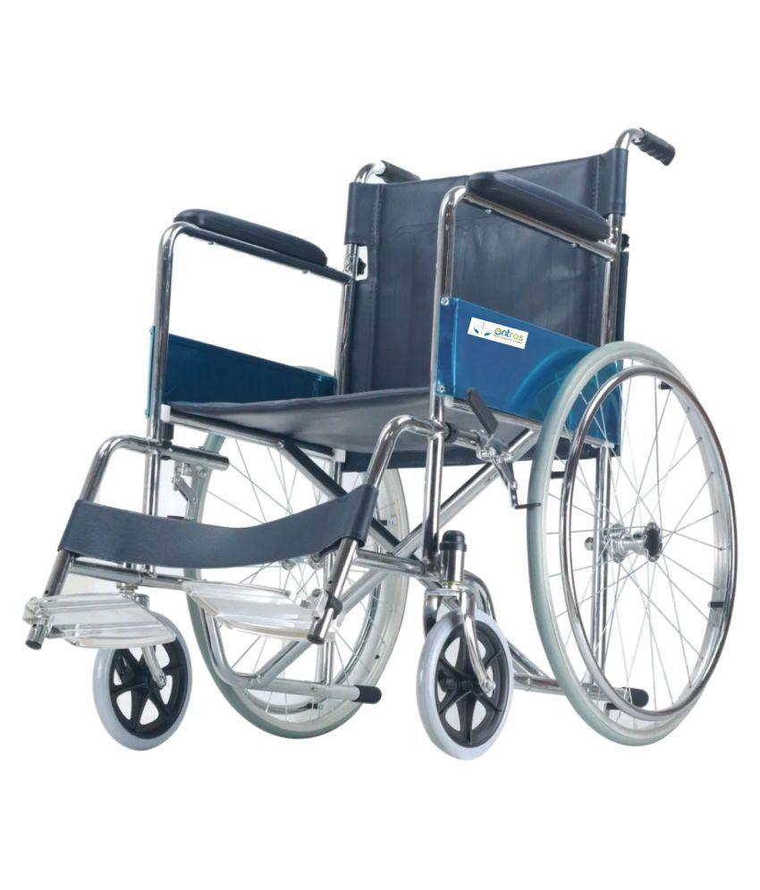 entros (SC809KD) Regular Foldable Chromed Steel Manual Wheel Chair