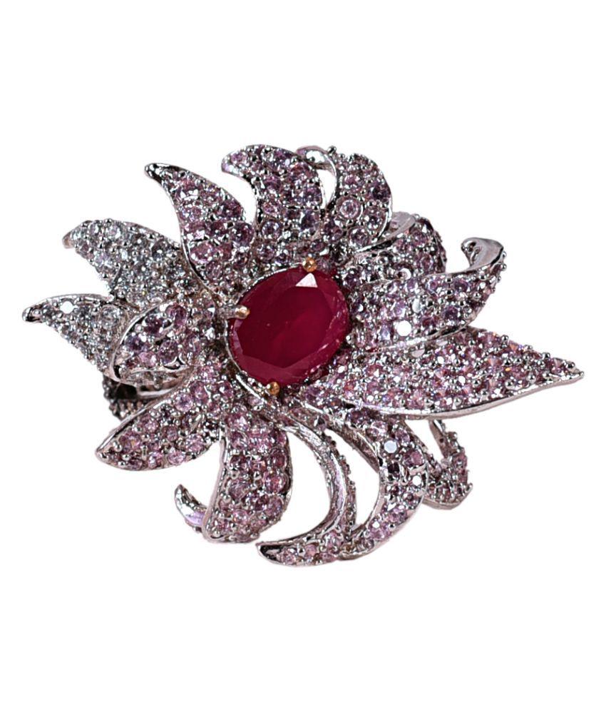 Mehak Gupta Copper Golden Designer Multi colour Ring