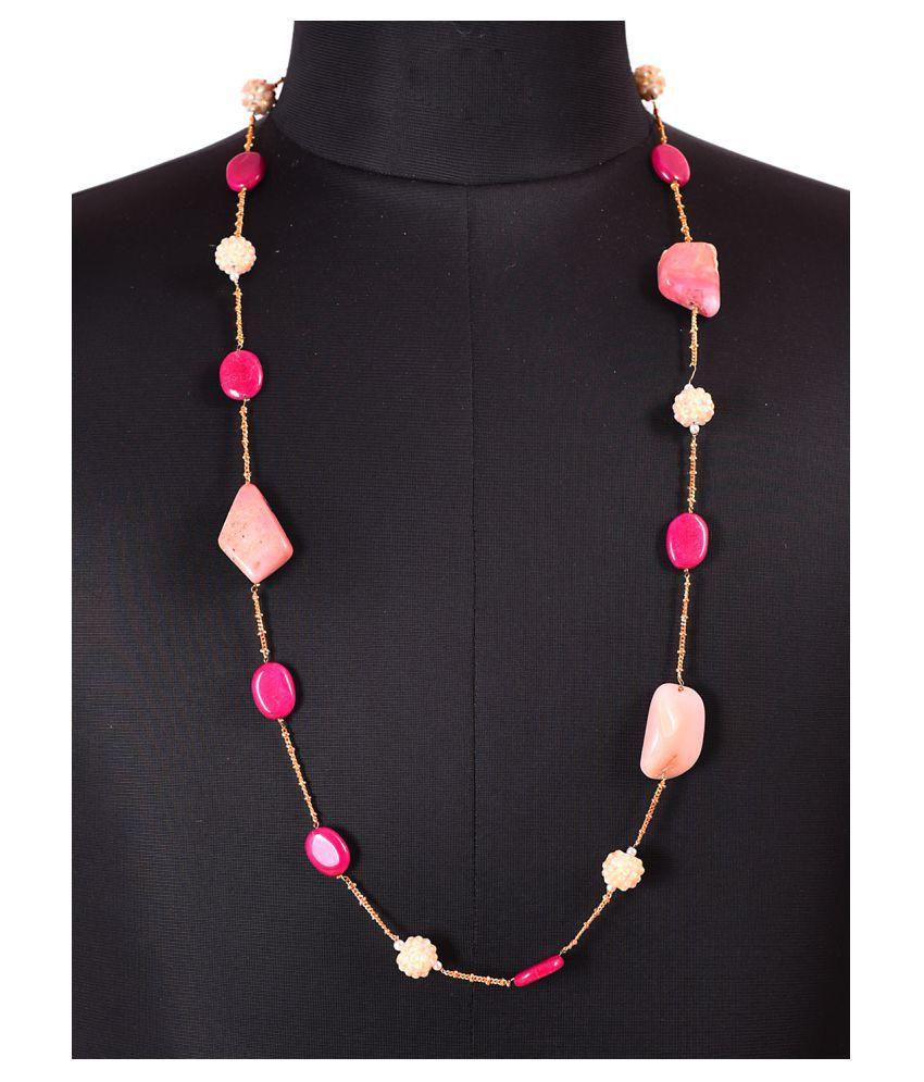 Mehak Gupta Copper Multicolour Designer Long Chain for Girls/Women's