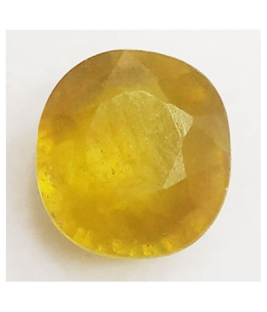 Natural Yellow Sapphire 3.41cts. 3 - 3.5 -Ratti Self certified Yellow Sapphire (Pukhraj)