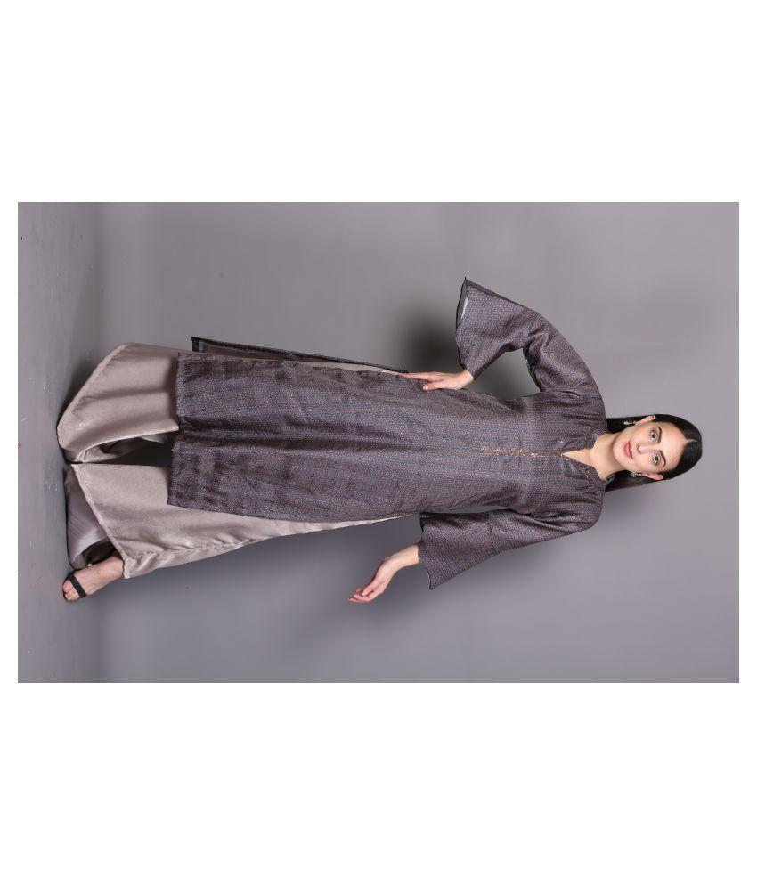 katyal's couture Brown Rayon A-line Kurti