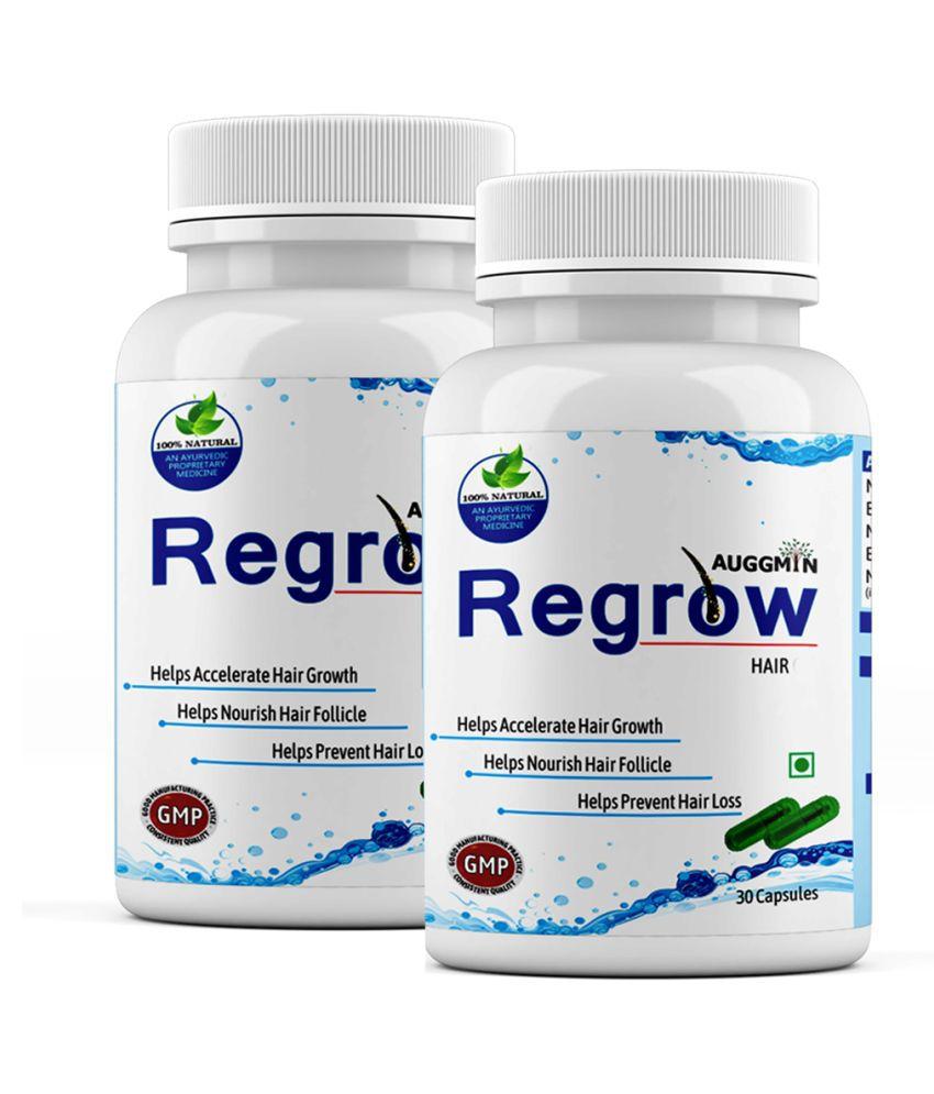 Auggmin Regrow Capsules for Hair Regrowth(60) Capsule 30 no.s Pack Of 2