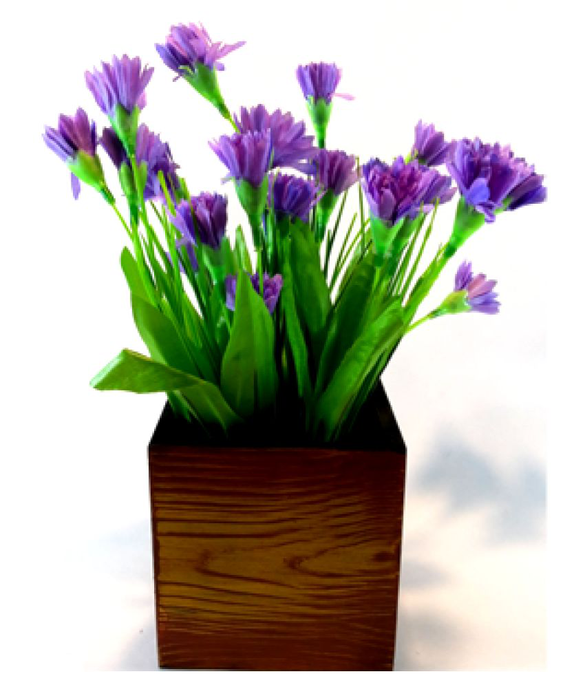 Carnival Wood Table Vase 21 cms - Pack of 1