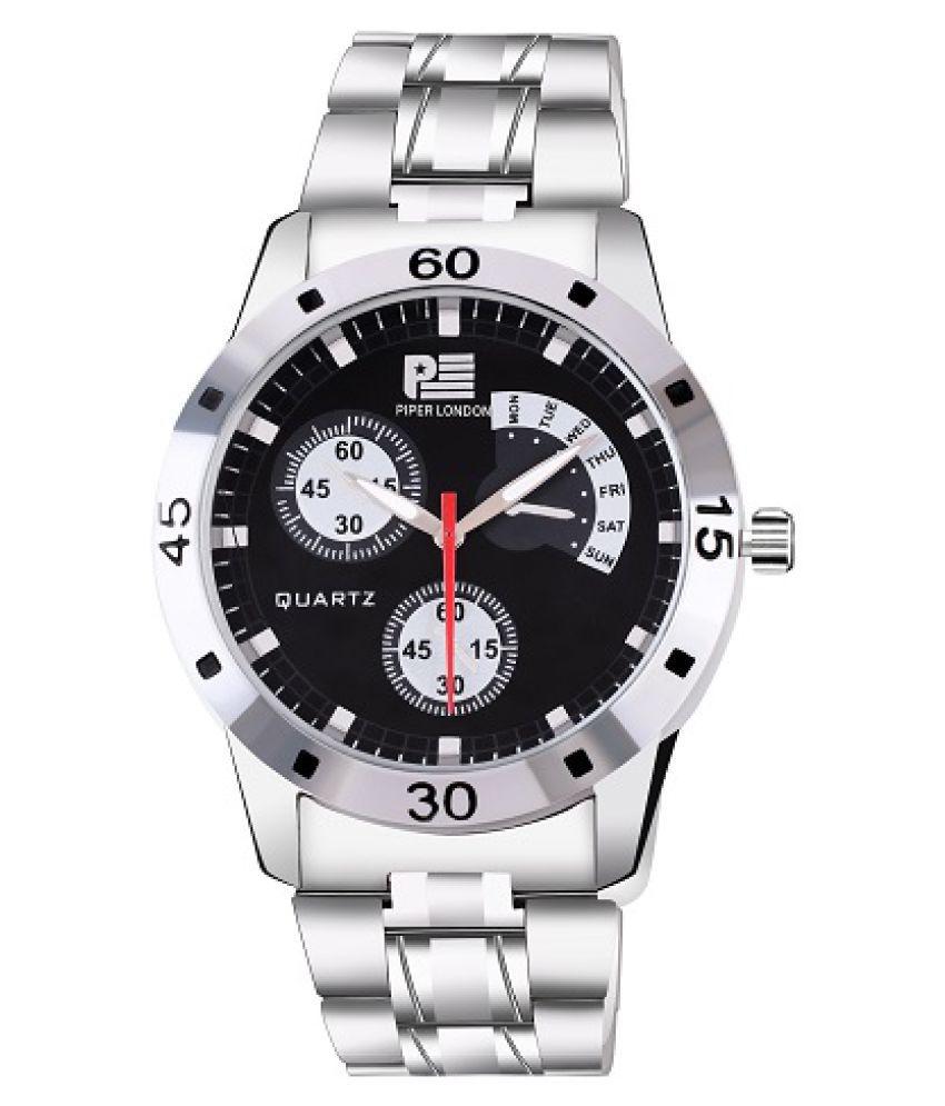 piper london PL2025-BLACKCHAIN-1 Stainless Steel Analog Men's Watch