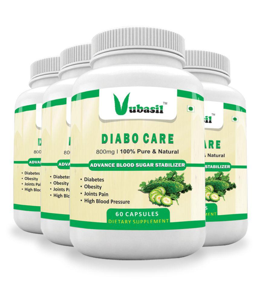 VUBASIL Best Herbal Diabetes Care Sugar Control Capsule 240 no.s Pack Of 4