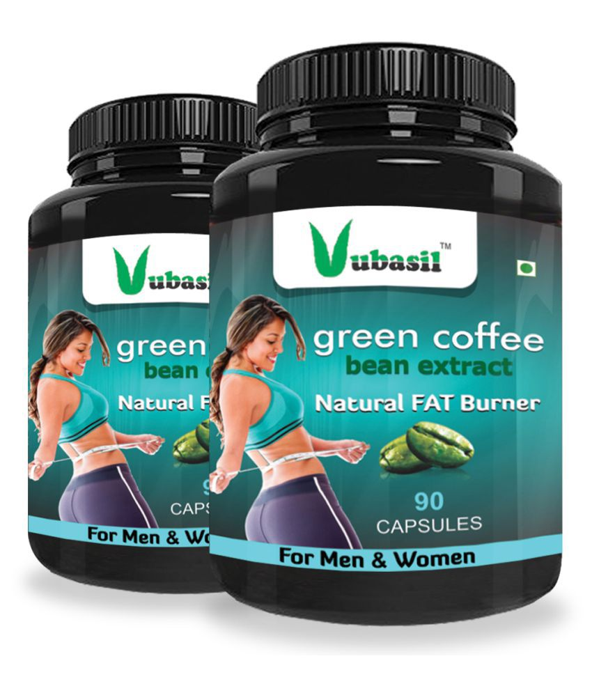 VUBASIL Herbal Green Coffee Extract Fat Burner Capsule 180 no.s Pack Of 2