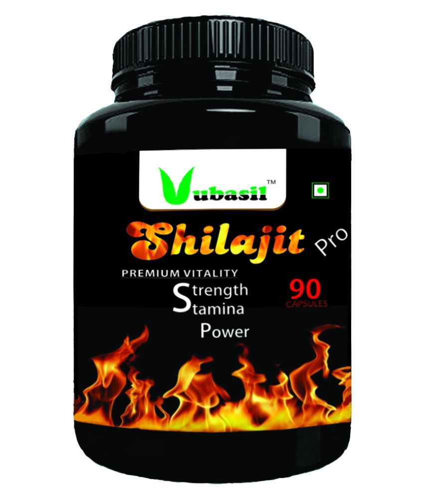 VUBASIL Pure Shilajit - Herbal Shilajeet Extract Capsule 90 no.s Pack Of 1