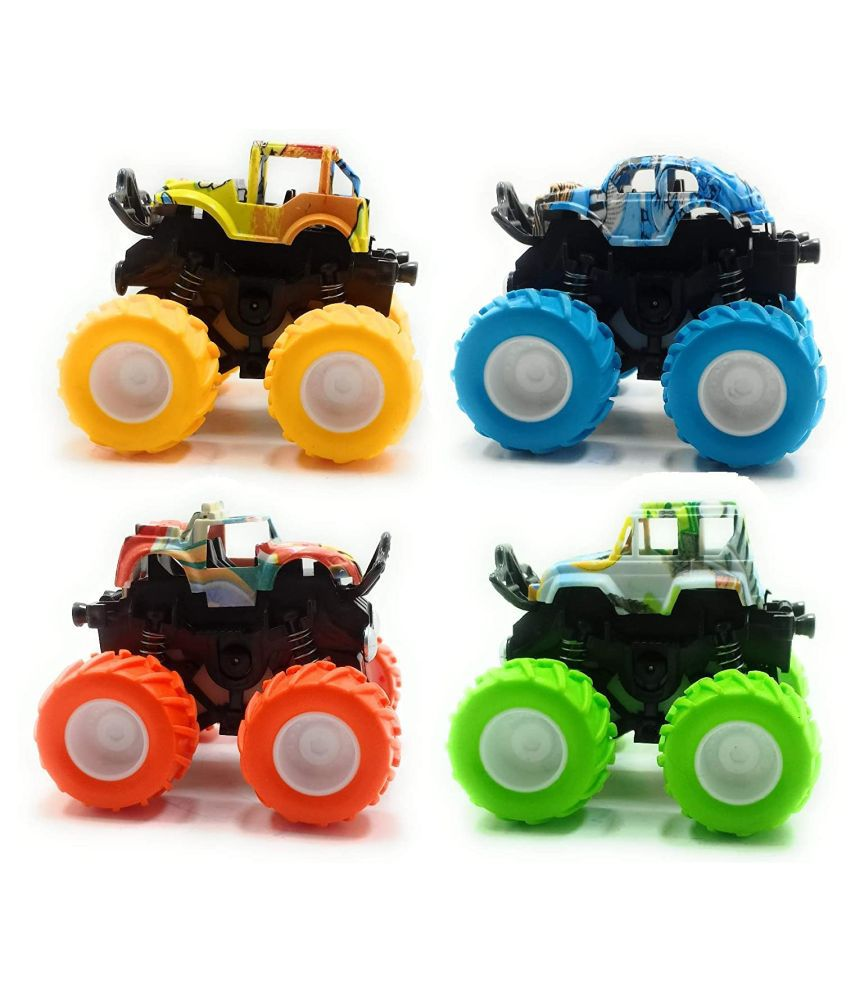 4WD Mini Monster Trucks Friction Powered Cars for Kids Big ...