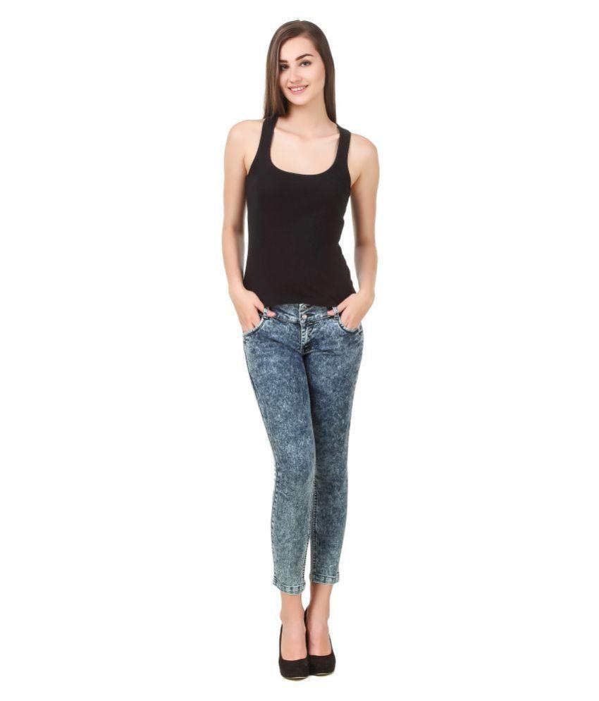 Cali Republic Denim Lycra Jeans - Multi Color