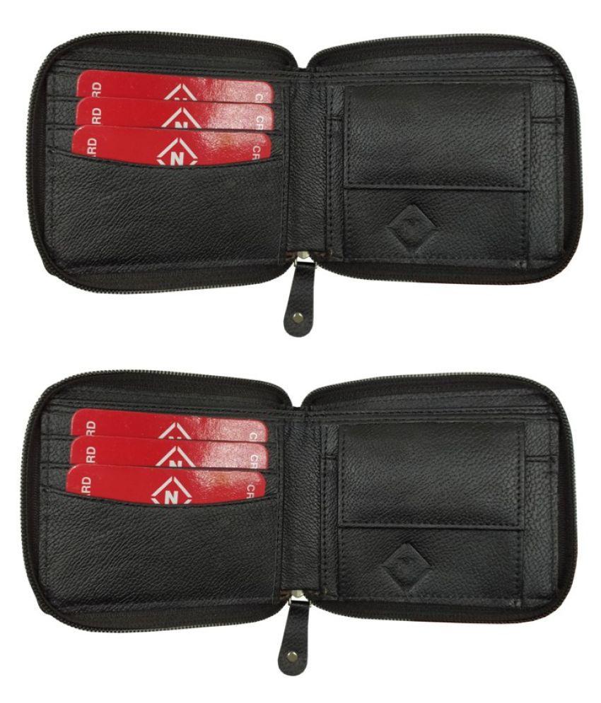 Nexa Fashion Leather Black Casual Anti-theft Wallet