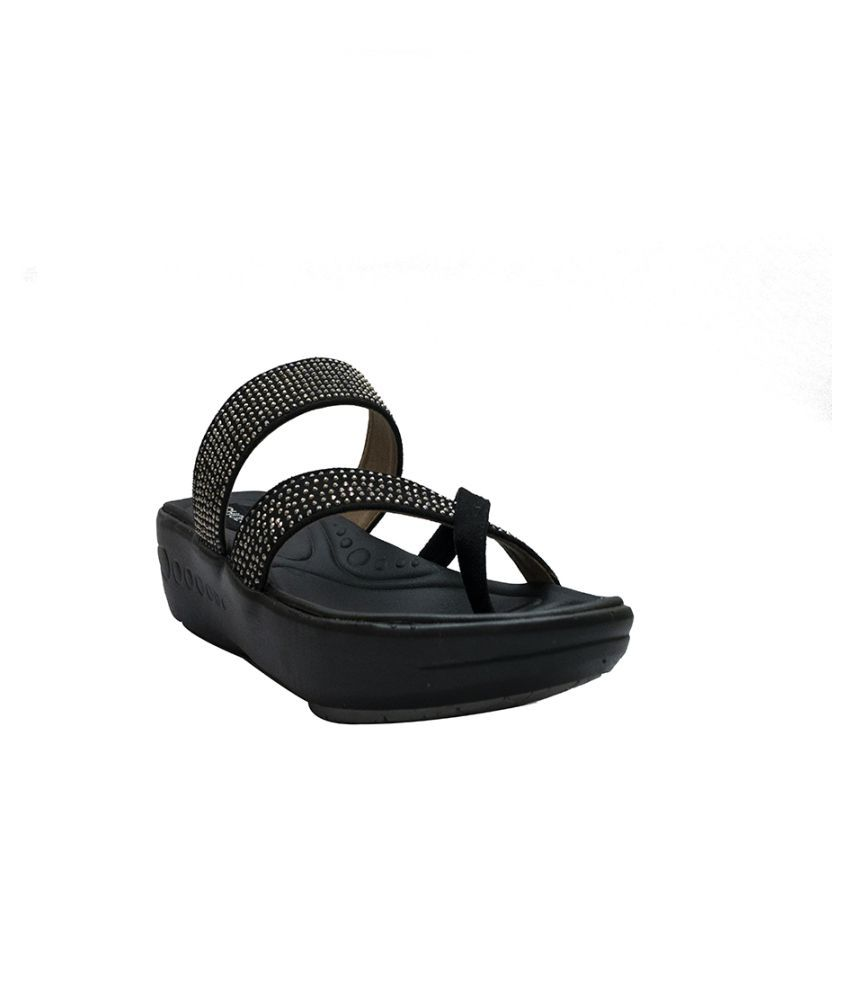 shoesme Black Slippers