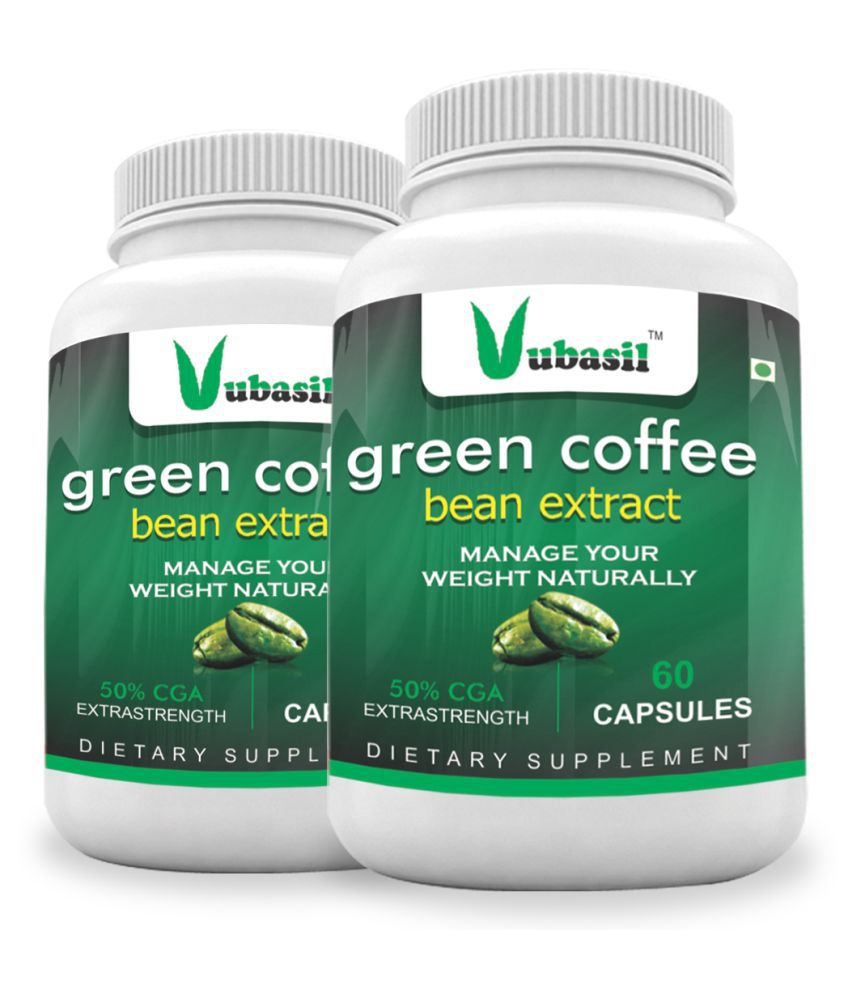 VUBASIL Herbal Green Coffee Extract Weight Loss Capsule 120 no.s Pack Of 2