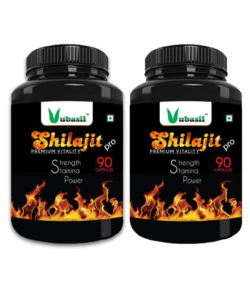 VUBASIL Pure Shilajit - Herbal Shilajeet Extract Capsule 180 no.s Pack Of 2