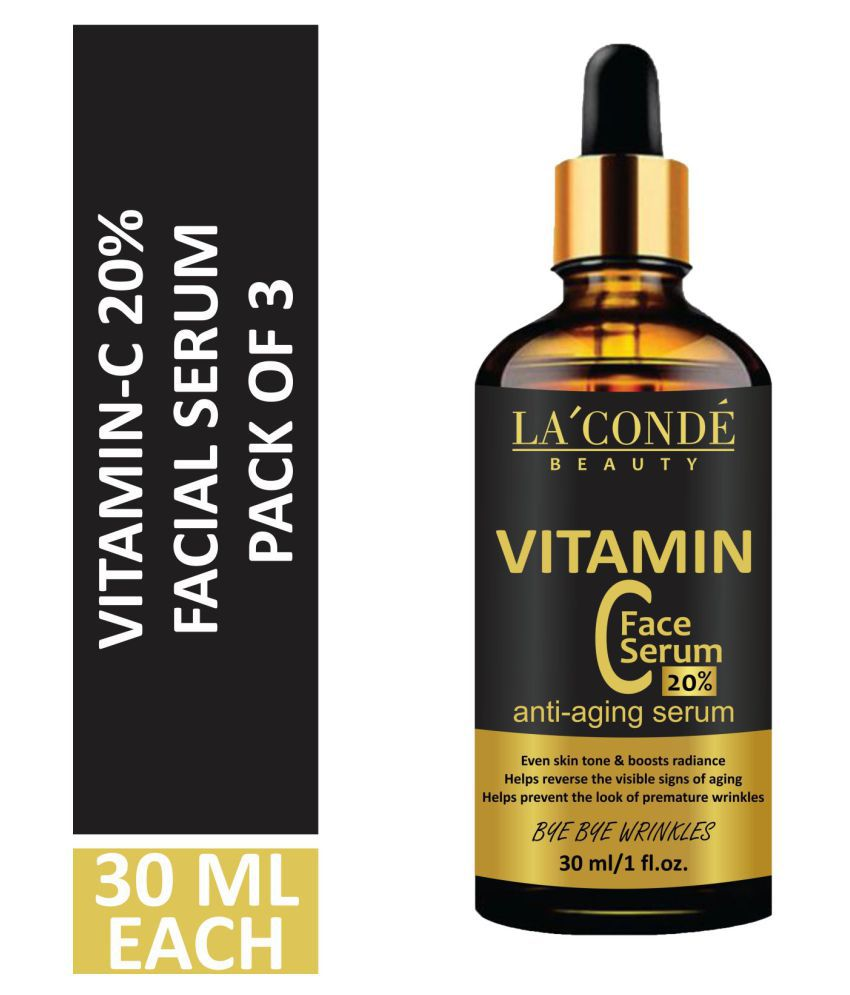 Laconde Vitamin C 20% Facial Serum- Anti Ageing Face Serum 90 mL Pack of 3