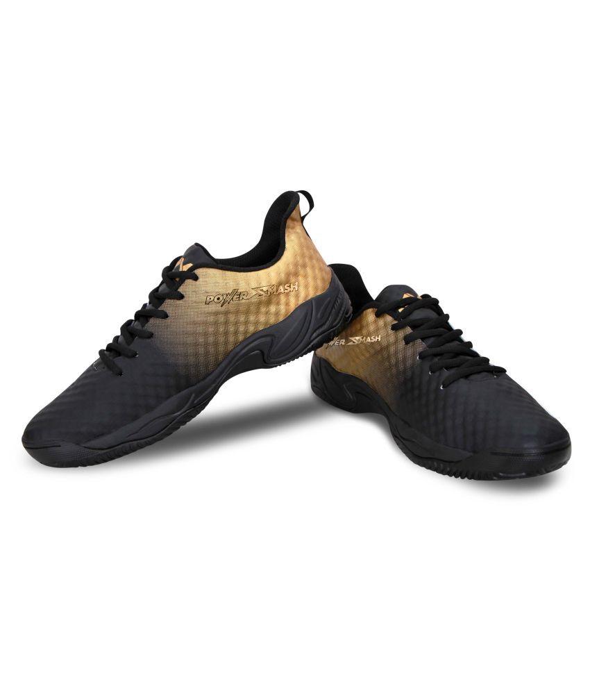 Nivia Power Smash Black Male Non-Marking Shoes