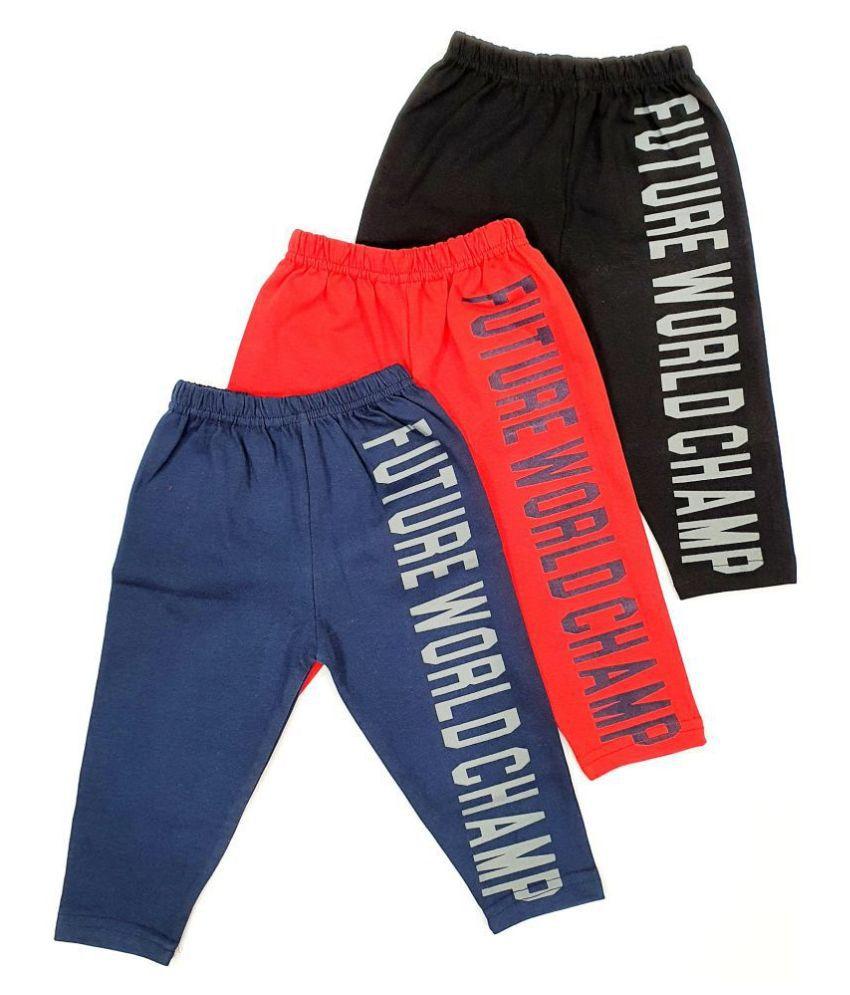 LITTLE POPS unisex kids pyjama lowers pack of 3   multicolor