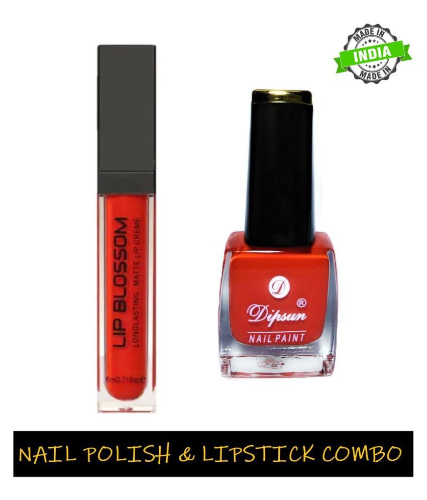 New.You HD Nailpolish & Lip Blossom Liquid Lipstick Tango Orange Pack of 2 22 mL