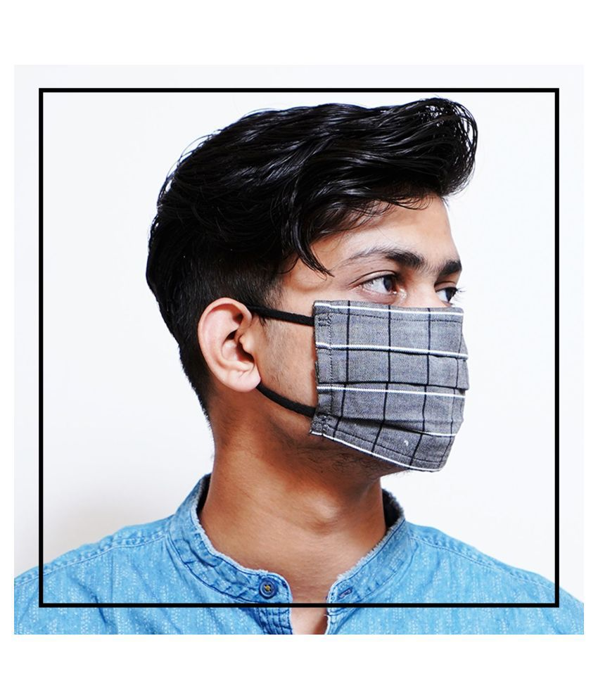 TONOTO Reusable 100% Cotton Cloth Triple Layered 3Ply Face Mask