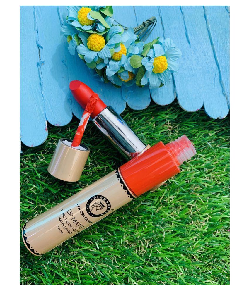 Colors Queen 2 in 1 Lipstick Orange SPF 10 8 g