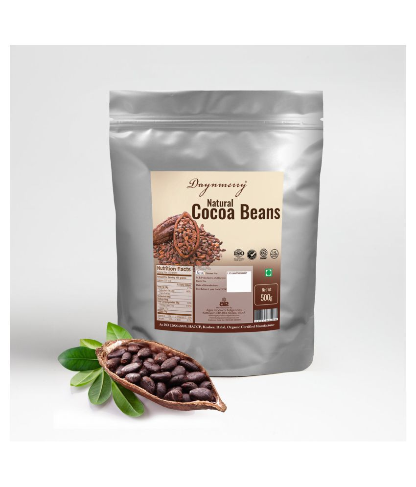 Daynmerry Natural Roasted Cocoa Beans 500 gm