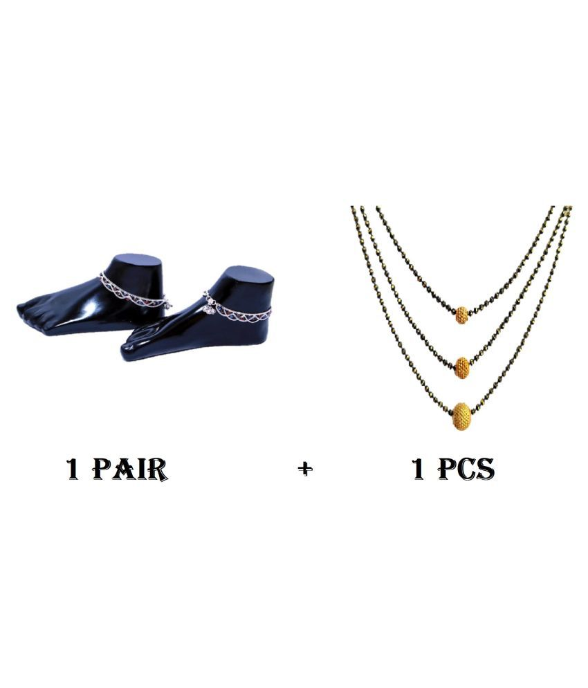 LOTUS RISE ANKLETS WITH MANGALSUTRA