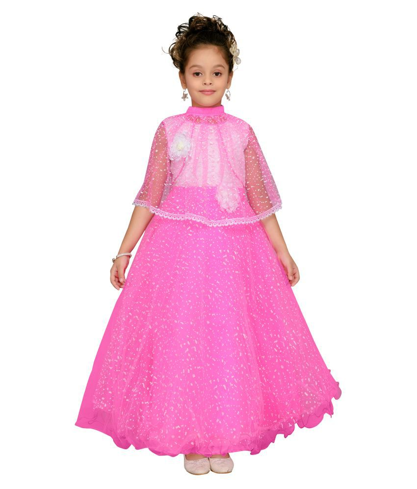 Aarika Self Design Party wear Maxi Shape Gown for Girl