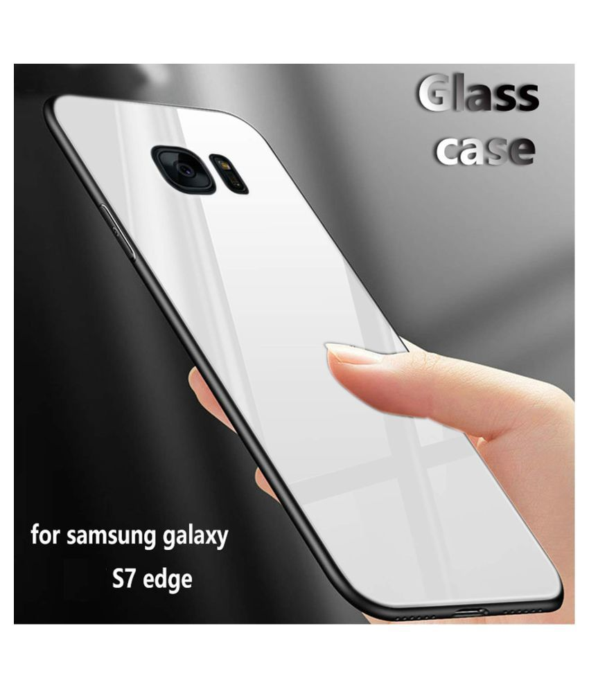 Samsung Galaxy S7 Edge Mirror Back Covers GoPerfect   White