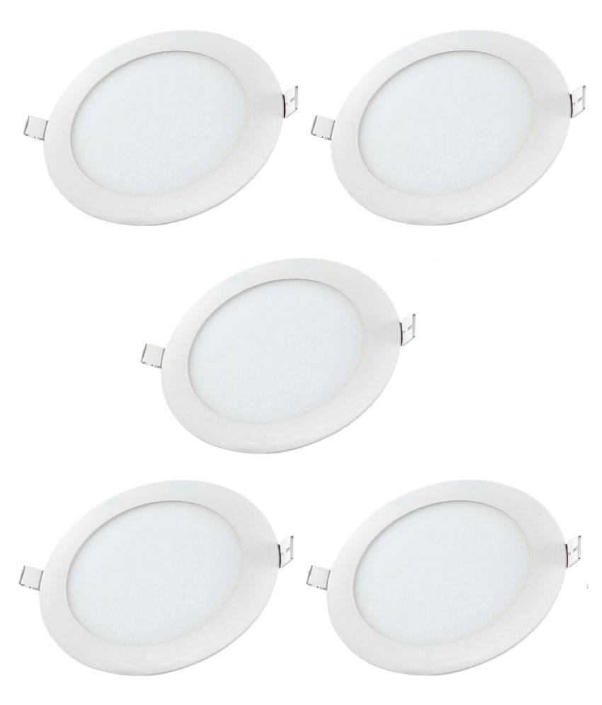 D'Mak Multi Traders 6W Round Ceiling Light 9.6 cms. - Pack of 5